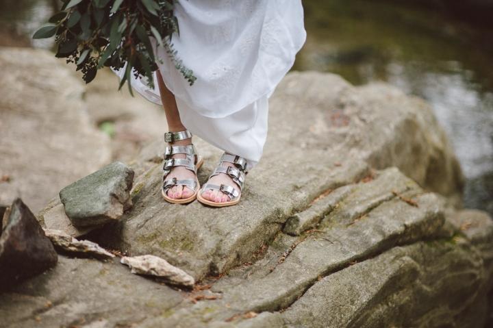 Hudson Sandals, Newton Silver Sandals