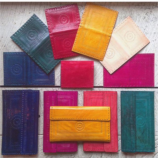 Beautiful hand embossed wallets are in-store now! | #newarrivals