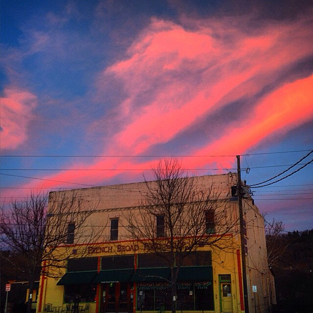Has anyone been lucky enough to catch the killer Asheville sunsets lately? What a wonderful place we live!