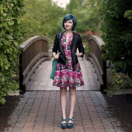 #TBT to 2013 when dear blogger, Rebecca (@aclotheshorse), rocked a darling Minx dress & made us all want to dye our hair blue!