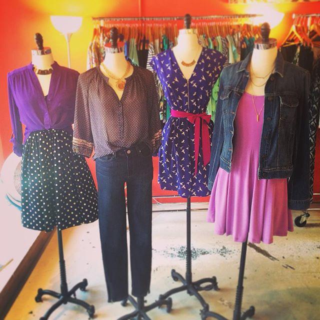 Denim, Dots, and Darling dresses