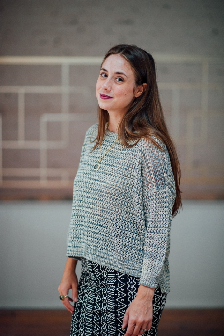 Shimmer Mesh Knit Sweater from French Connection
