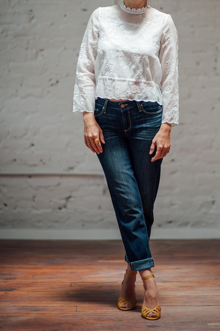 """Paige Boyfriend Jeans, Seychelles """"Astonish"""" Heels"""