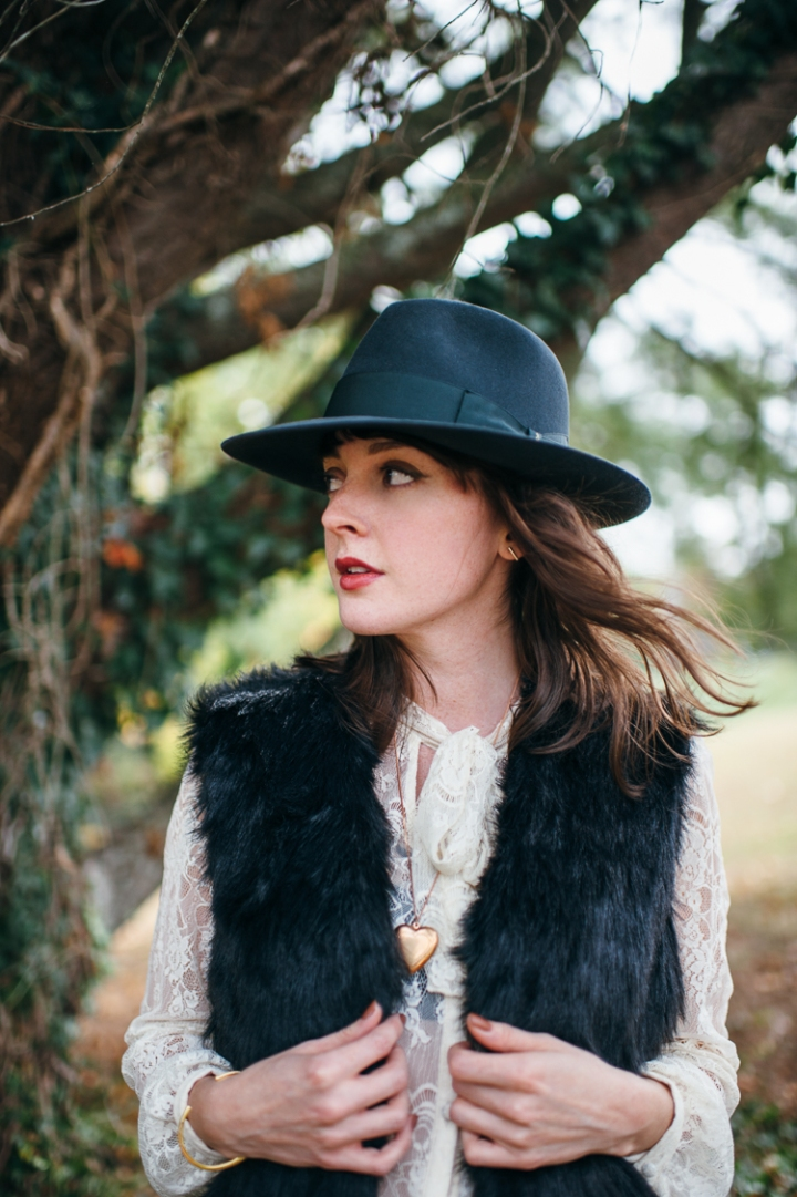 Fedora, Fur, and Lace