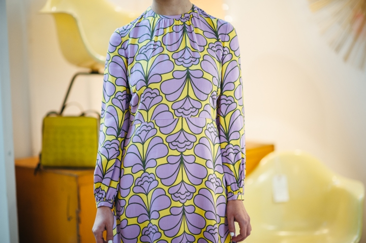 Orla Kiely, Damask Flower Flared Dress